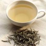 Chá branco rico em polifenóis