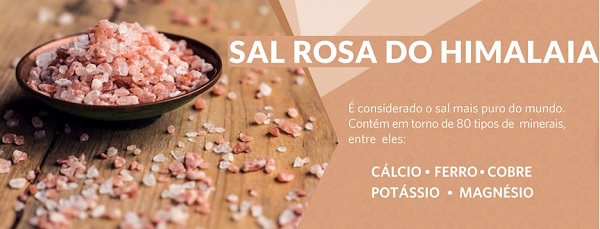 Sal Rosa do Himalaia Fino Embalagem com 1kg