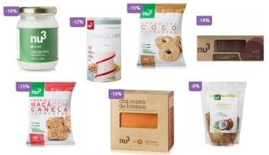 Suplementos alimentares Nu3 com descontos especiais em promoção