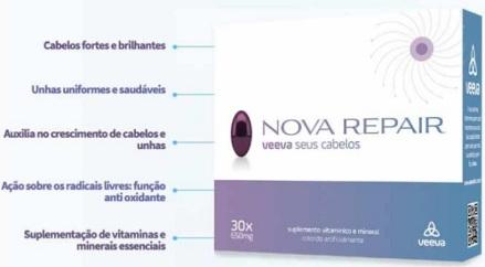 Suplemento vitaminico e mineral para cabelos Veeva Nova Repair